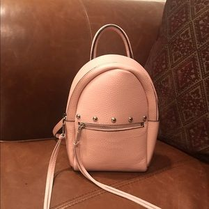 Rebecca Minkoff pink mini backpack